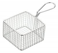MasterClass Mini Deluxe Stainless Steel Square Serving Fry Basket