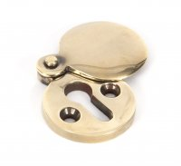 Aged Brass Round 30mm Escutcheon