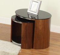 Jual San Marino Glass Nest of Tables in Walnut