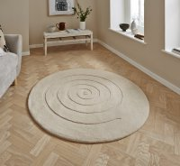 Think Rugs Spiral Ivory - Various Sizes