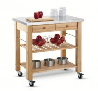 Hungerford Trolleys The Lambourn Two Drawer Stainless Steel Top Kitchen Trolley