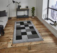 Think Rugs Matrix MT04 Grey - Various Sizes