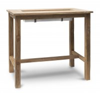 Garden Trading St Mawes Drinks/Planter Bar Table, 120cm - Teak