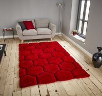 Think Rugs Noble House NH30782 Red/Black - Various Sizes