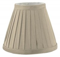 Dar Yovanna Pleated Shade 15cm Taupe