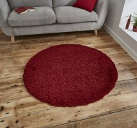 Think Rugs Vista 2236 Red Circle - Various Sizes