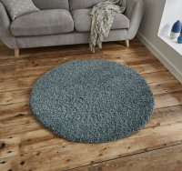 Think Rugs Vista 2236 Teal Blue Circle - Various Sizes