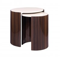 Jual Milan Walnut & Cream Nest of Tables