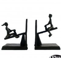 Elur See Saw Iron Book Ends 14cm Mocha