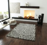 Think Rugs Valentine VL 10 Light Grey - Various Sizes