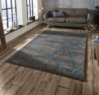 Think Rugs Royal Nomadic 5746 Grey/Blue - Various Sizes