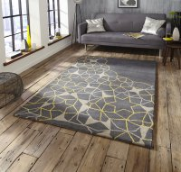 Think Rugs Spectrum SP37 Grey/Yellow