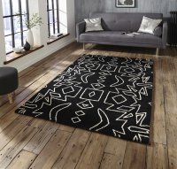 Think Rugs Spectrum SP41 Black/White