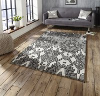 Think Rugs Spectrum SP83 Grey/Silver