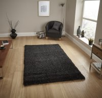 Think Rugs Loft 01810A Black - Various Sizes