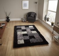 Think Rugs Noble House JR04 Black - Various Sizes