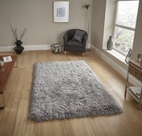 Think Rugs Polar PL 95 Light Grey - Various Sizes