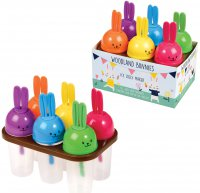 Rex Woodland Bunnies Ice Lolly Makers, Set of 6