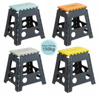 Wham Casa Tall Folding Step Stool - Assorted