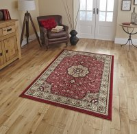 Think Rugs Diamond 4400 Red - Various Sizes