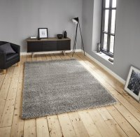 Think Rugs Loft 01810A Silver - Various Sizes