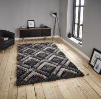 Think Rugs Noble House NH8199 Grey - Various Sizes
