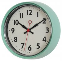 Rex 50s Style Metal Wall Clock Mint