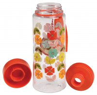 Rex Mid Century Poppy Water Bottle 600ml