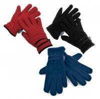 RJM Thinsulate Fleece Gloves Red/Black/White/Purple