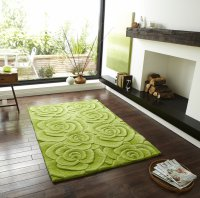 Think Rugs Valentine VL 10 Green - Various Sizes