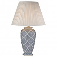 Dar Ely Table Lamp Blue/White - (Base Only)
