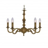 Searchlight Malaga 5 Light Antique Brass Fitting Assembled Candle No Glass