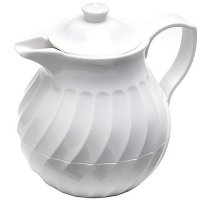 Connoisserve 20oz Swirl Pattern Insulated Tea Pot in White