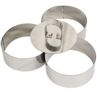 Cuisine Stainless Steel Food Moulds 8cm x 4cm (Pack 3)