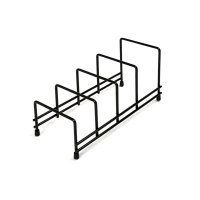 delfinware plate storage rack black