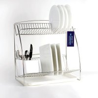 delfinware 2-tier plate rack stainless steel