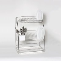 delfinware 3-tier plate rack stainless steel