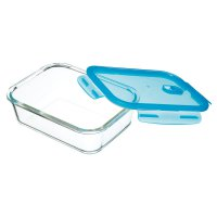 KitchenCraft Pure Seal Rectangular Glass Food Storage Container - 1 Litre