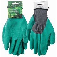 crinkle latex gloves green
