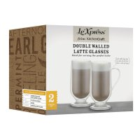 Le'Xpress Double Walled 325ml Latte Glasses (Set of 2)