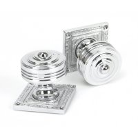 Polished Chrome Tewkesbury Square Mortice Knob Set