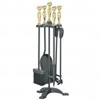Manor Reproductions Companion Set Manor - Black/Brass - 55