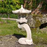 Solstice Sculptures Pagoda Tall 59cm Antique Stone Effect