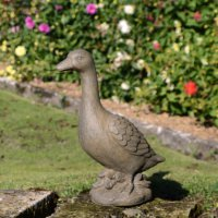 Solstice Sculptures Duck 40cm Rust Effect