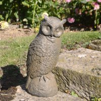Solstice Sculptures Owl 41cm Rust Effect