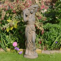 Solstice Sculptures Elizabeth Urn Girl 84cm Rust Effect