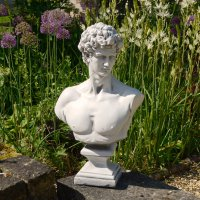 Solstice Sculptures David Bust 59cm White Stone Effect
