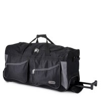 "5Cities Valencia Collection 27"" Wheeled Trolley Bag - Black/Grey"