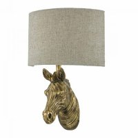 Dar Abby 1 Light Wall Light Zebra Gold complete with Shade