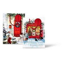 Festive Wonderland Gift Bag Extra Large - Assorted Traditional Post Office/Red Door